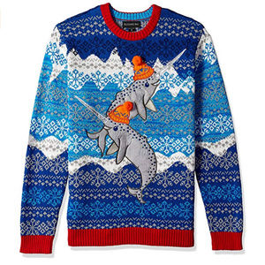 bc29638e5 Blizzard Bay Narwhals Ugly Christmas Sweater Large